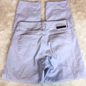 CALVIN KLEIN Skinny Crop Jeans in Lavender, sz 6